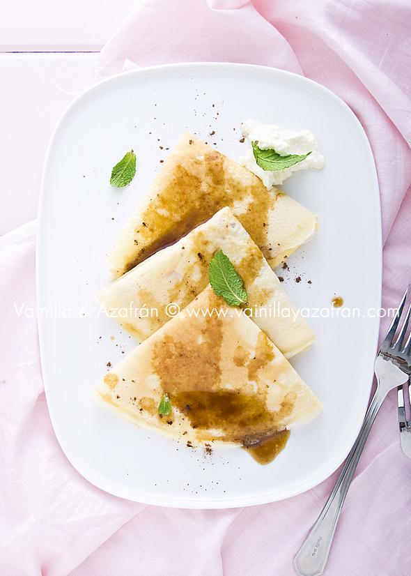 Crepes con salsa de caf la se ora bonita for Salsa para crepes