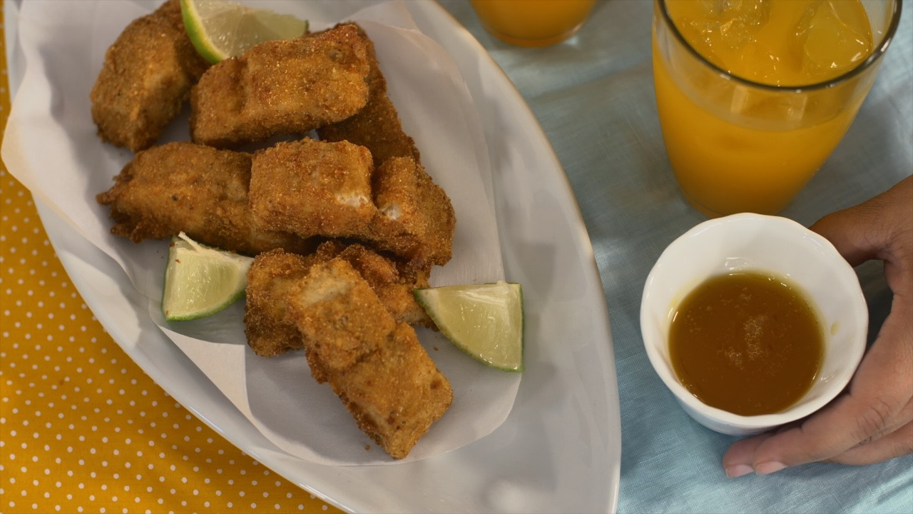 Sagrario TV: Nuggets de Pescado en Salsa de Chinola