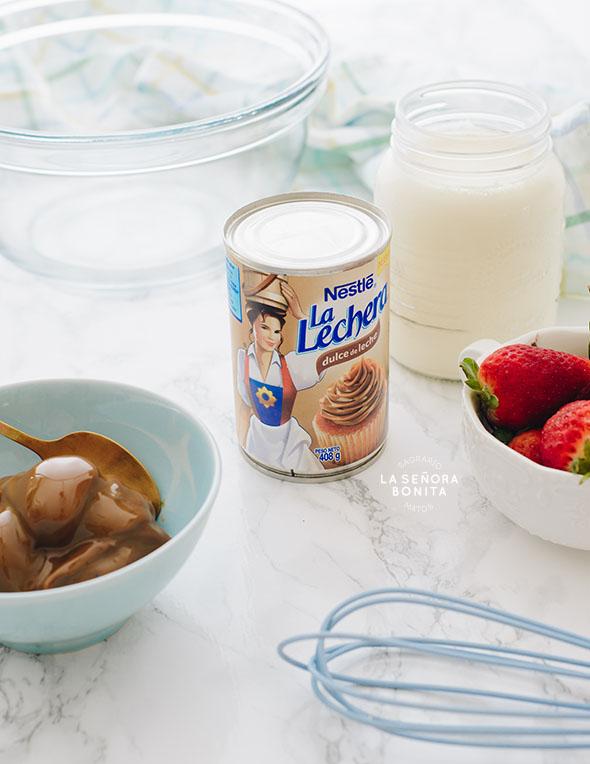 Helado Casero de Dulce de Leche, sólo 2 ingredientes, no necesitas máquina de hacer helados/ Sagrario Matos